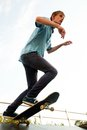 Skateboarder on start Royalty Free Stock Photography