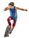 Skateboarder young teenager man isolated