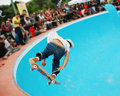 Skateboarding in a pool 3 Royalty Free Stock Image