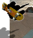 Skatepark pipe ramp skateboarding skater Royalty Free Stock Photos