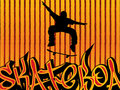 Skater background Royalty Free Stock Images
