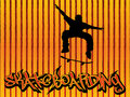 Skater background orange Royalty Free Stock Image