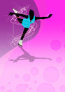 Skater girl ice dance background invitation poster or flyer with space Royalty Free Stock Photos