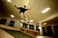 image photo : Skater jumping
