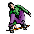 Skater (Vector) Stock Image