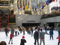 Skaters at Rockefeller Center Stock Photography