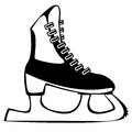Skates for figure skating on white background Royalty Free Stock Photo