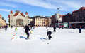 Skating in Helsinki Stock Photography