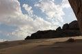 Skay mountainous area in saudi arabia Royalty Free Stock Photo