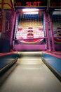 Skee ball arcade bowling game Royalty Free Stock Photo