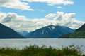 Skeena River and mountains in British Columbia, Canada Royalty Free Stock Photo