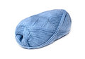 Skein of blue yarn Royalty Free Stock Photo