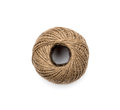 Skein of jute twine on the white background Stock Image