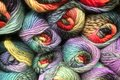 Skeins of knitting wool Royalty Free Stock Photo
