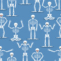 Skeleton background. Bones and skull ornament. Ornament of dead. Royalty Free Stock Photo