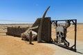 Skeleton coast gate ugabmund at national park namibia Royalty Free Stock Photo