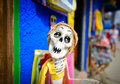 Skeleton doll on the day of the dead mexico in Royalty Free Stock Images