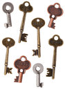 Skeleton Door Keys Royalty Free Stock Photo