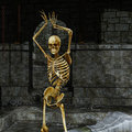 Skeleton in the dungeon Royalty Free Stock Image