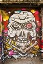 Skeleton Head Graffiti Royalty Free Stock Photo