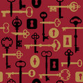 Skeleton Key-Lock Pattern_Red Stock Photography