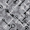 Skeleton Key Pattern_Black-Gray Royalty Free Stock Photo