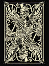Skeleton playing card vector illustration Stock Image