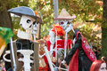 Skeleton Puppeteers Perform In Atlanta Halloween Parade Stock Images