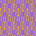 Skeleton seamless pattern. Bones and skull ornament. Ornament of Royalty Free Stock Photo