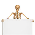 Skeleton with showing sign d art illustration of Royalty Free Stock Image