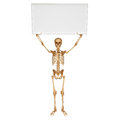 Skeleton with showing sign d art illustration of Stock Image