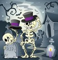 Skeleton theme image eps vector illustration Stock Photography