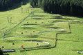 Skeleton track in italy presolana bergamo lombardy at summer Royalty Free Stock Photos