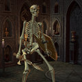 Skeleton Warriors in the altar room Stock Image