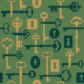 SkeletonKey-Lock Pattern_Green Royalty Free Stock Images