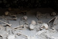 Skeletons in Boat Sheds, Herculaneum Archaeological Site, Campania, Italy Royalty Free Stock Photo