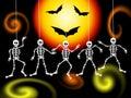 Skeletons illustration of on halloween night Stock Image