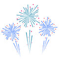Sketch abstract colorful exploding firework illustration vector Royalty Free Stock Photos