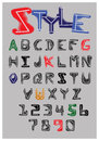 Sketch alphabet on grey background Royalty Free Stock Photography