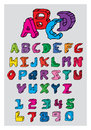 Sketch alphabet on white background Stock Image