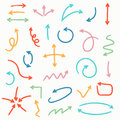 Sketch arrow set. Vector illustration for your business Royalty Free Stock Photo