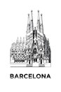 The sketch of Basilica and Expiatory Church of the Holy Family
