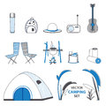 Sketch Camping Elements Set
