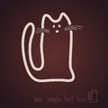 Sketch cat icon chocolate this is file of eps format Royalty Free Stock Images