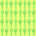 Sketch desert cactus in vintage style vector seamless pattern Stock Images