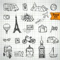 Sketch doodle icon collection, picnic, Royalty Free Stock Photo