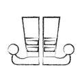 Sketch draw jester boots cartoon