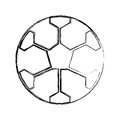 Sketch draw soccer ball cartoon