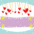 Sketch drawing love banner Stock Photo