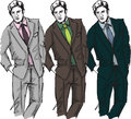 Sketch of fashion handsome men Stock Image